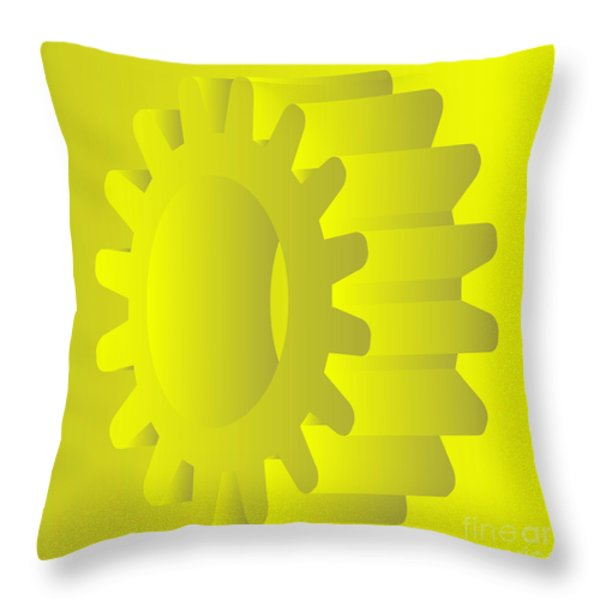 vector gears Throw Pillow by Michal Boubin