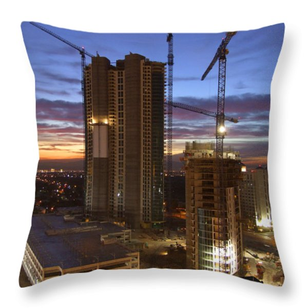 Vegas Expansion Throw Pillow by Mike McGlothlen