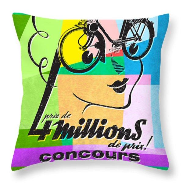 Velosolex Throw Pillow by Gary Grayson
