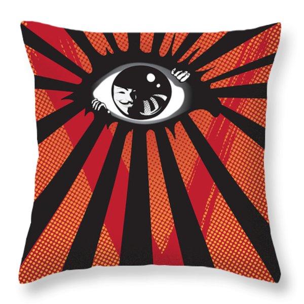 Vendetta2 Eyeball Throw Pillow by Sassan Filsoof