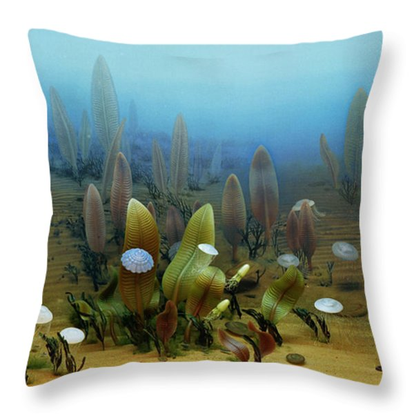 Vendian Marine Life Throw Pillow by Chase Studio