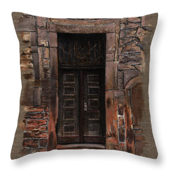 Venetian Door 02 Elena Yakubovich Throw Pillow by Elena Yakubovich