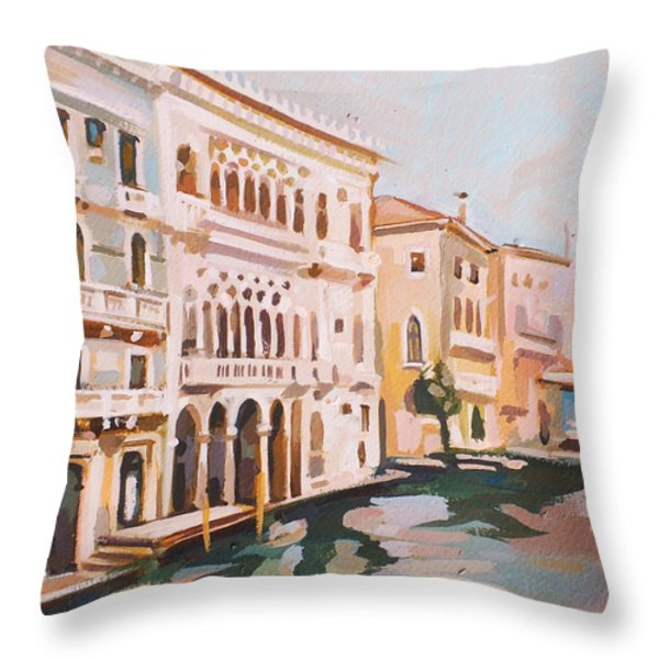 Venetian Palaces Throw Pillow by Filip Mihail