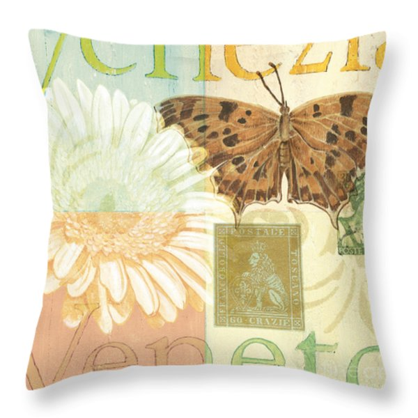 Venezia Throw Pillow by Debbie DeWitt