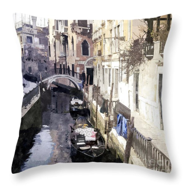 Venice 1 Throw Pillow by Julie Woodhouse