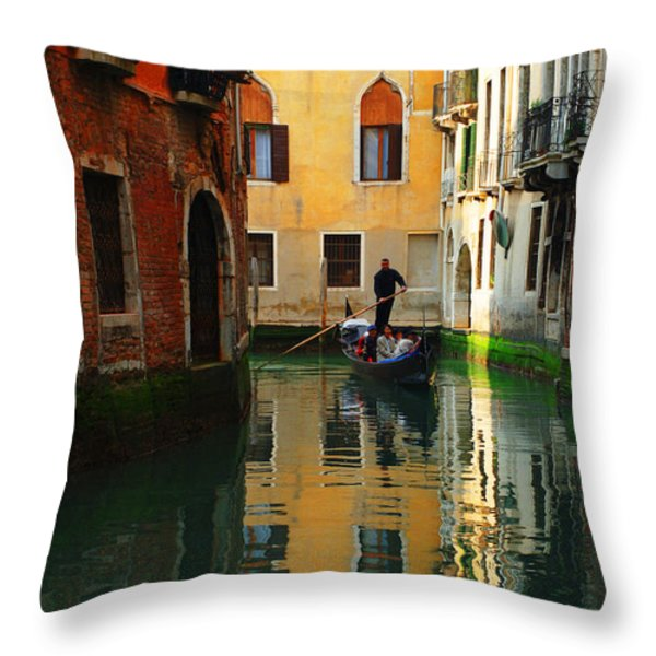Venice Reflections Throw Pillow by Bob Christopher