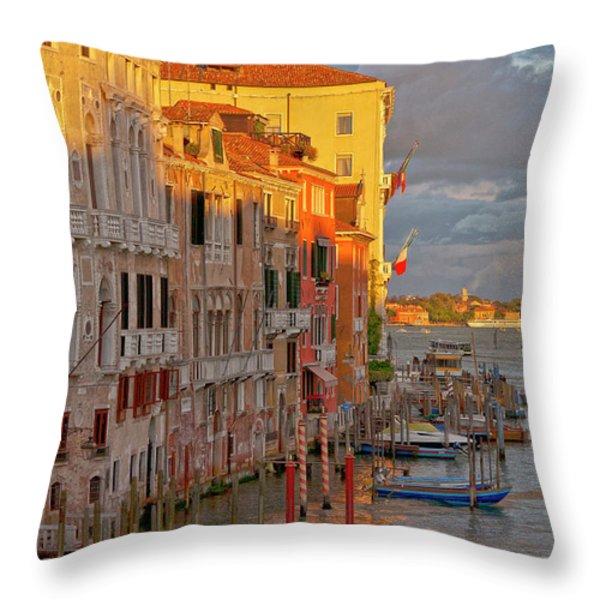 Venice Romantic Evening Throw Pillow by Heiko Koehrer-Wagner