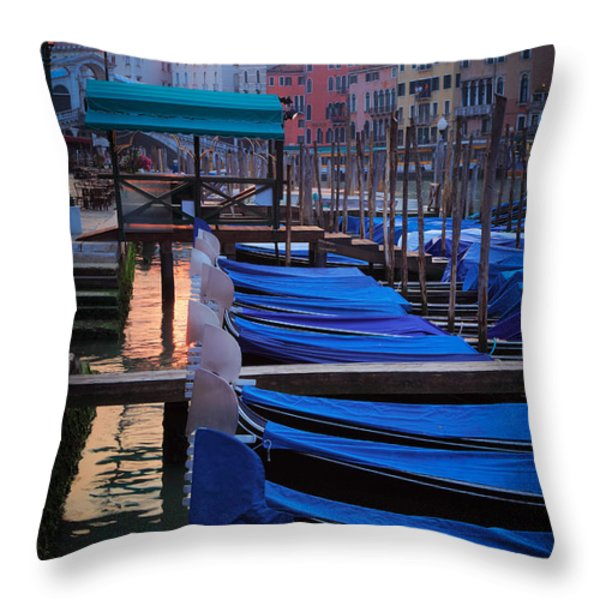 Venice Sunrise Throw Pillow by Inge Johnsson