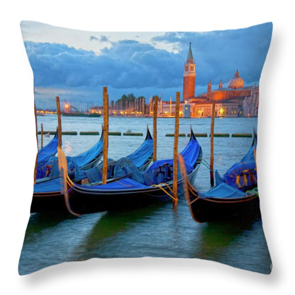 Venice View To San Giorgio Maggiore Throw Pillow by Heiko Koehrer-Wagner