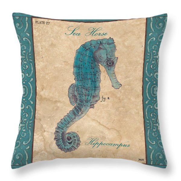 Verde Mare 3 Throw Pillow by Debbie DeWitt