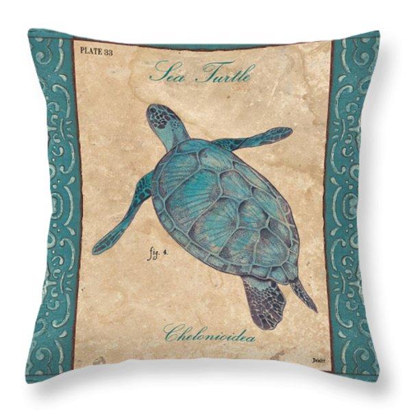 Verde Mare 4 Throw Pillow by Debbie DeWitt