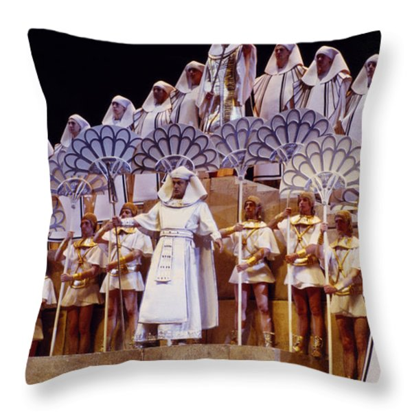 Verdi Aida Throw Pillow by Shaun Higson