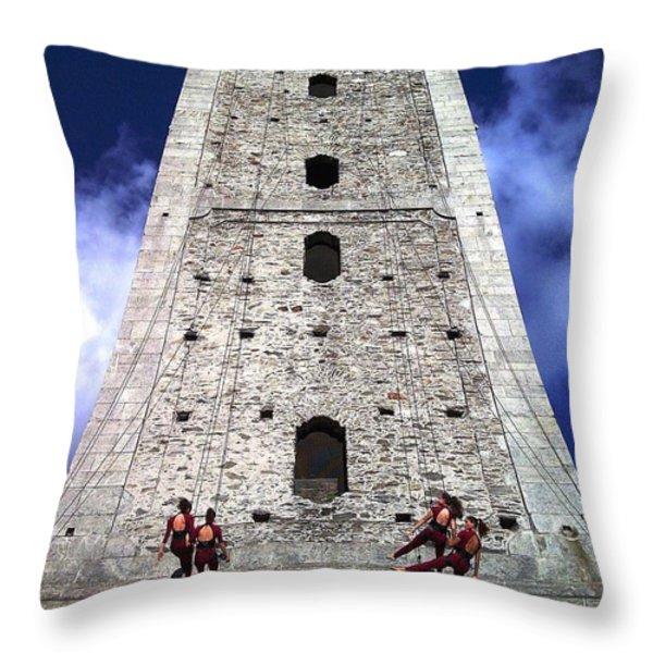 Vertical Dance Throw Pillow by Giuseppe Epifani