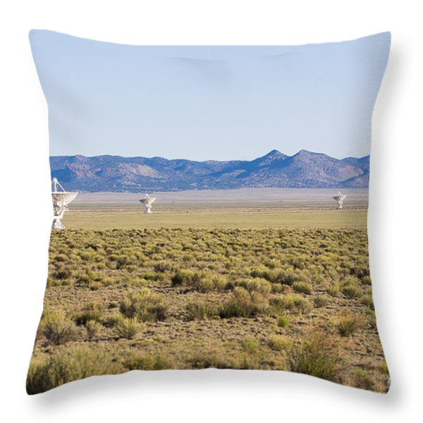 Very Large Array Throw Pillow by Steven Ralser