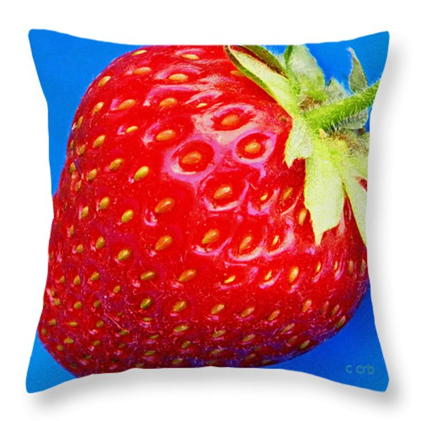 Very Strawberry  Throw Pillow by Chris Berry