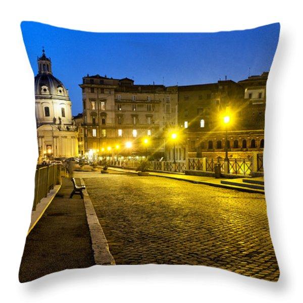 Via Alessandrina Throw Pillow by Fabrizio Troiani