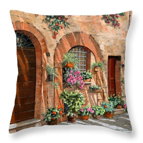 Viaggio In Toscana Throw Pillow by Guido Borelli