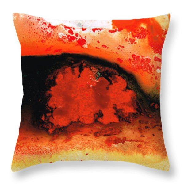 Vibrant Abstract Art - Leap Of Faith By Sharon Cummings Throw Pillow by Sharon Cummings