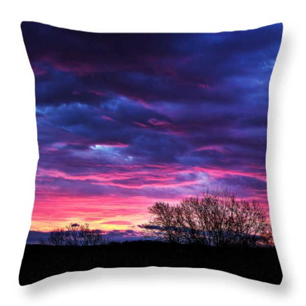 Vibrant Sunrise Throw Pillow by Tim Buisman