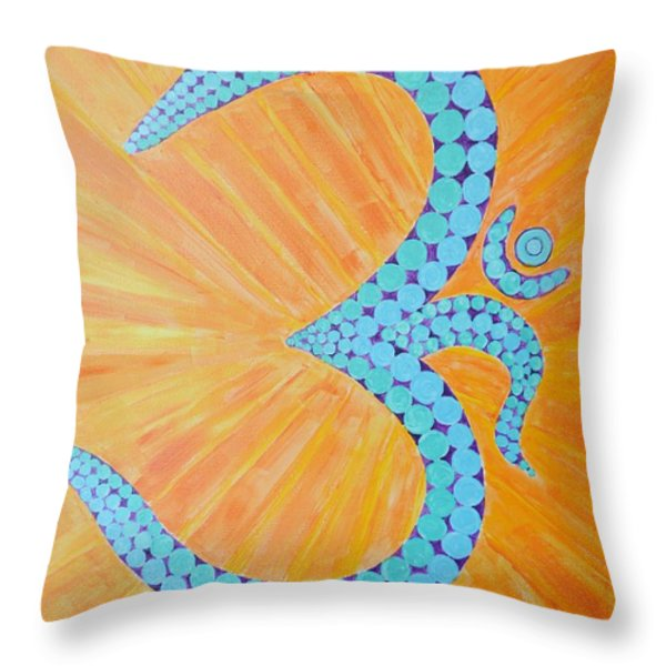 Vibration Of The Supreme Throw Pillow by Sonali Gangane