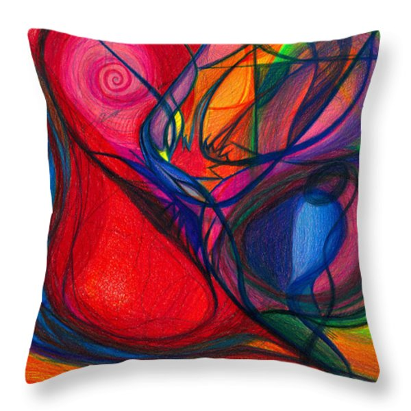 Vibrational Heart Healing - Sounds of Radiant Joy ' Purity of Heart ' Soul ' Mind and Body Aligned Throw Pillow by Daina White