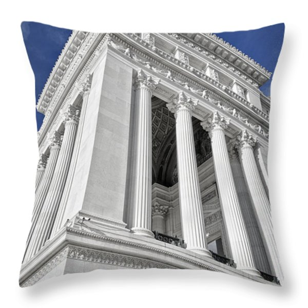 Victor Emmanuel Monument Throw Pillow by Joan Carroll