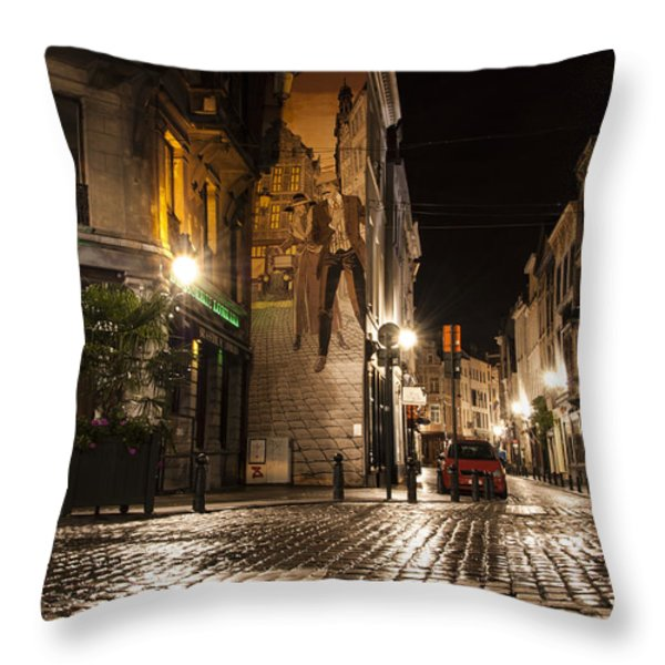 Victor Sackville in the Dark Throw Pillow by Juli Scalzi