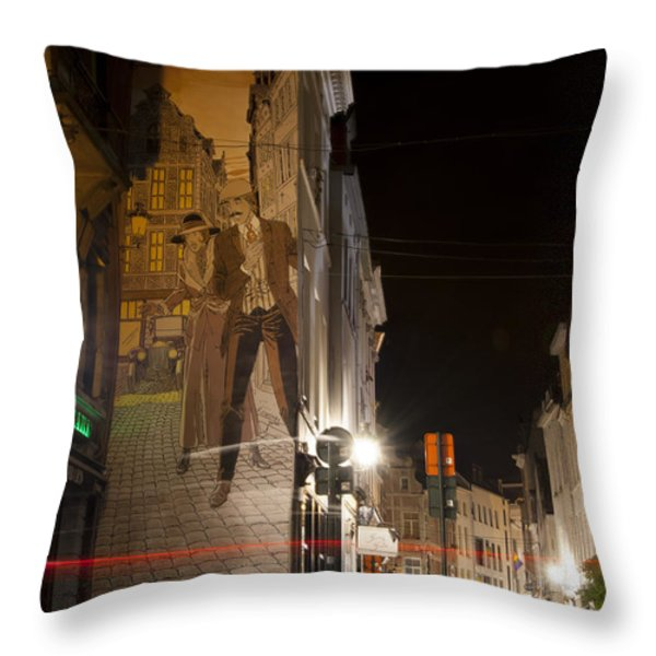 Victor Sackville Throw Pillow by Juli Scalzi