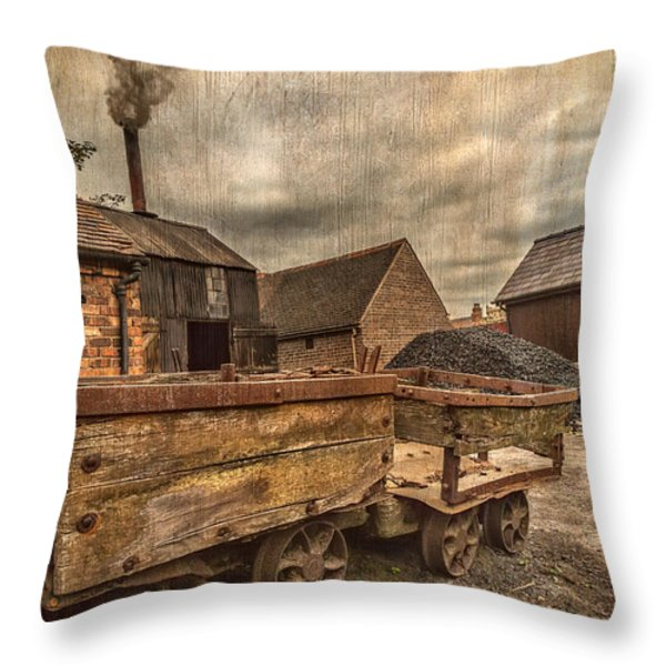 Victorian Colliery Throw Pillow by Adrian Evans
