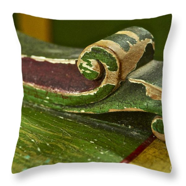 Victorian Curves Throw Pillow by Gwyn Newcombe