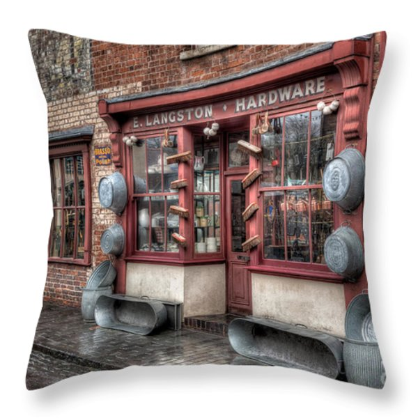 Victorian Hardware Store Throw Pillow by Adrian Evans