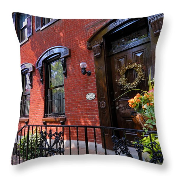 Victorian Home in Pittsburgh's Mexican War Streets Throw Pillow by Amy Cicconi