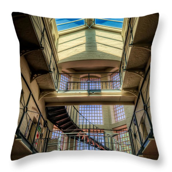 Victorian Jail Throw Pillow by Adrian Evans
