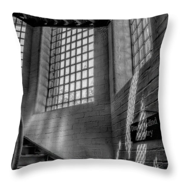 Victorian Jail Staircase V2 Throw Pillow by Adrian Evans