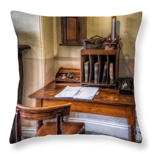 Victorian Medical Office Throw Pillow by Adrian Evans