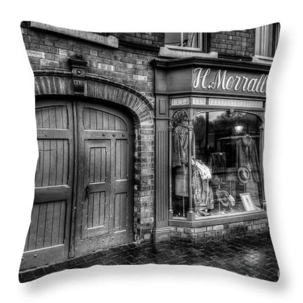 Victorian Menswear Throw Pillow by Adrian Evans