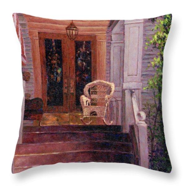 Victorian Rocking Chair Throw Pillow by Susan Savad