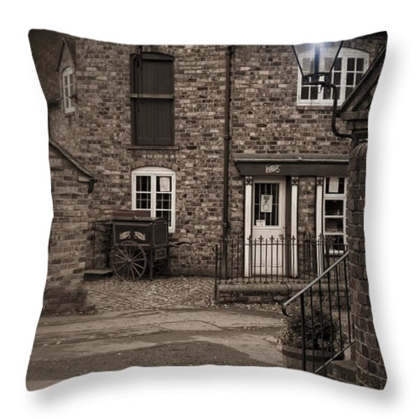 Victorian Stone House Throw Pillow by Amanda And Christopher Elwell