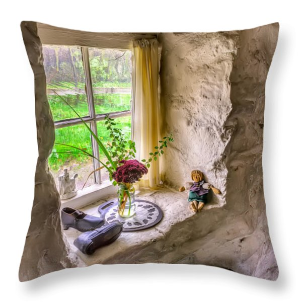 Victorian Window Throw Pillow by Adrian Evans
