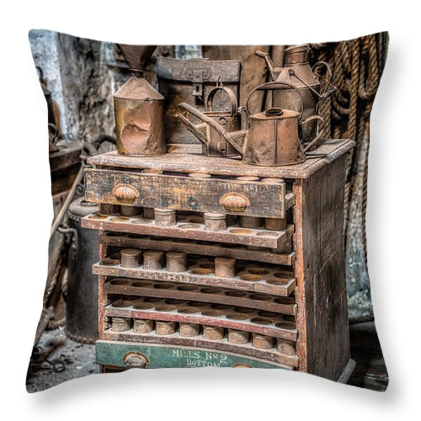 Victorian Workshop Throw Pillow by Adrian Evans