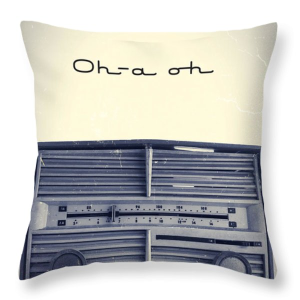 Video Killed The Radio Star Throw Pillow by Edward Fielding