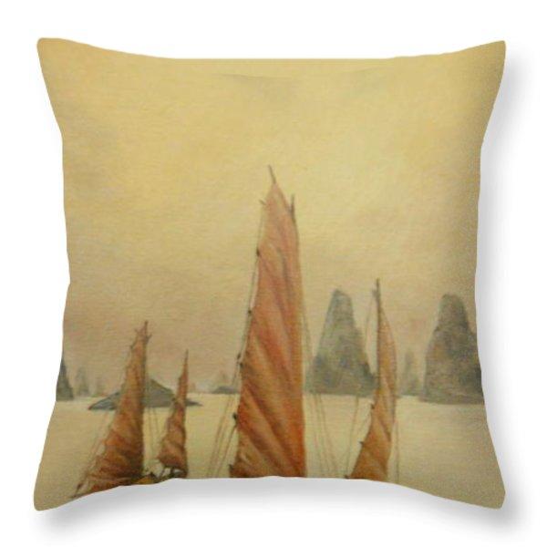 Vietnam Throw Pillow by Sorin Apostolescu