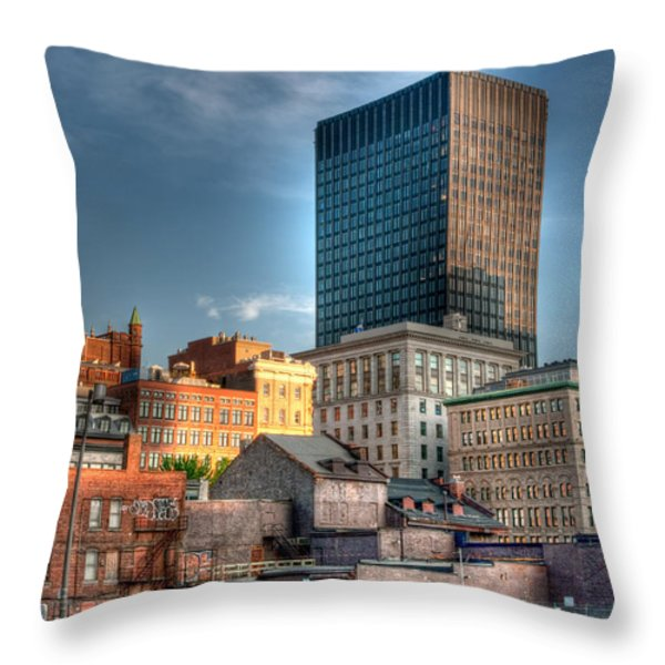 vieux Montreal Throw Pillow by Elisabeth Van Eyken
