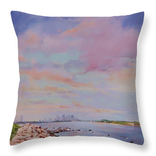 View from Hull Throw Pillow by Laura Lee Zanghetti