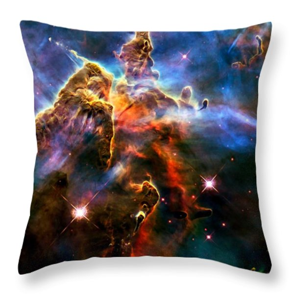 View Of Pillar And Jets Hh 901902 Throw Pillow by Amanda Struz