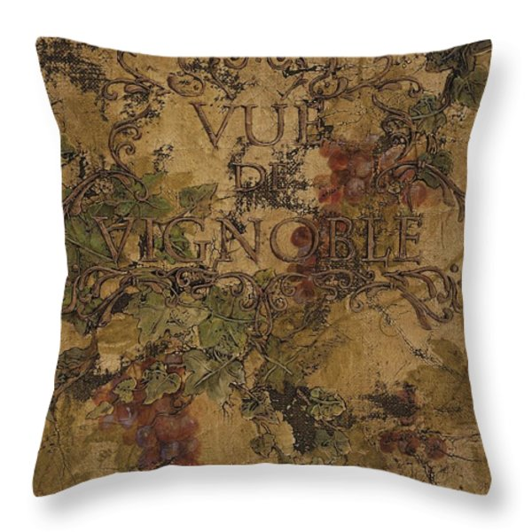 View of the Vineyard Throw Pillow by Chris Brandley