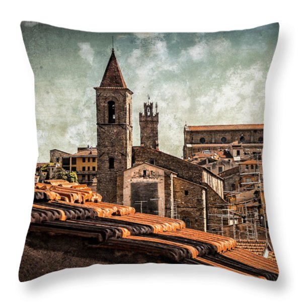 View Over Arezzo Throw Pillow by Hugo Bussen