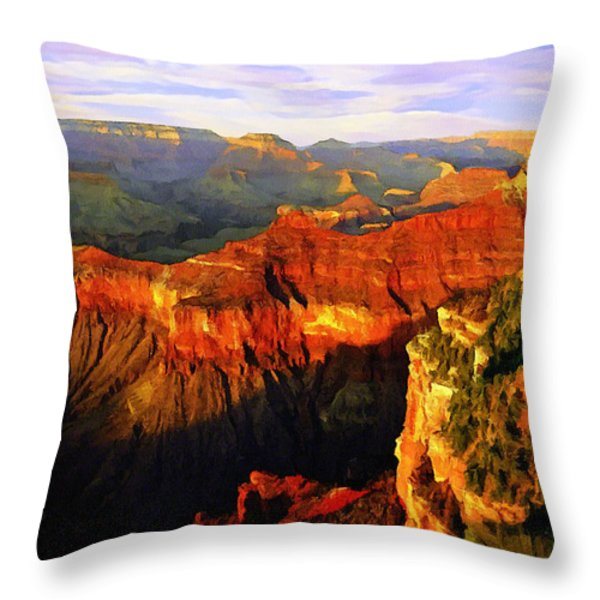 View - Yavapai Point Throw Pillow by Bob and Nadine Johnston