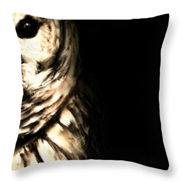 Vigilant In Darkness Throw Pillow by Lourry Legarde