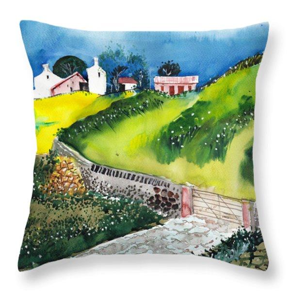 Villa Throw Pillow by Anil Nene